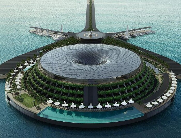 #Sustainability: This floating hotel will generate electricity by rotating all day